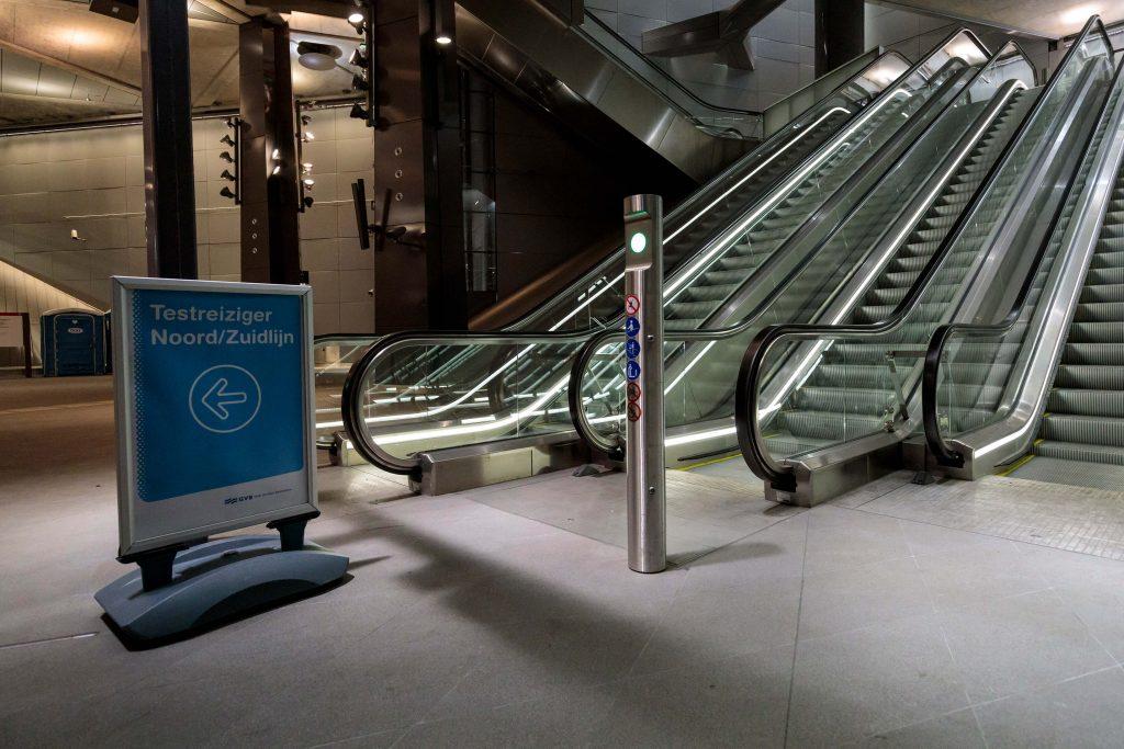Centraal Station testreizen Noord/Zuidlijn