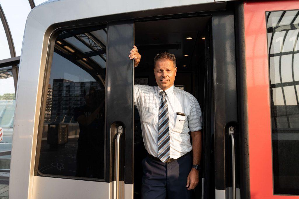Danny Tuinhout, metrobestuurder eerste rit op 22 juli