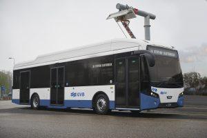 Impressie electrische bus VDL voor GVB