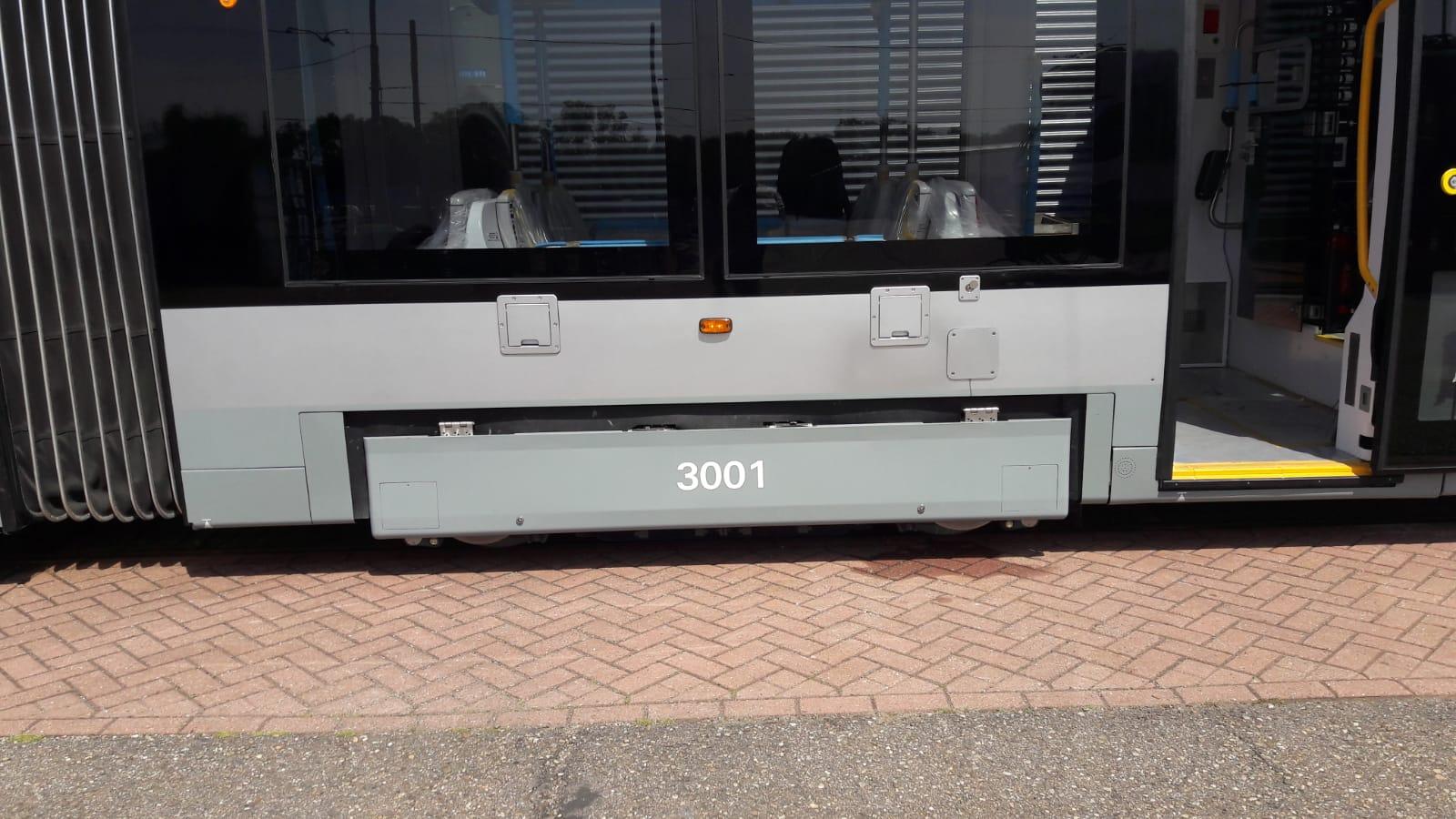 nieuwe 15G tram grootwagennummer tijdelijke plaats