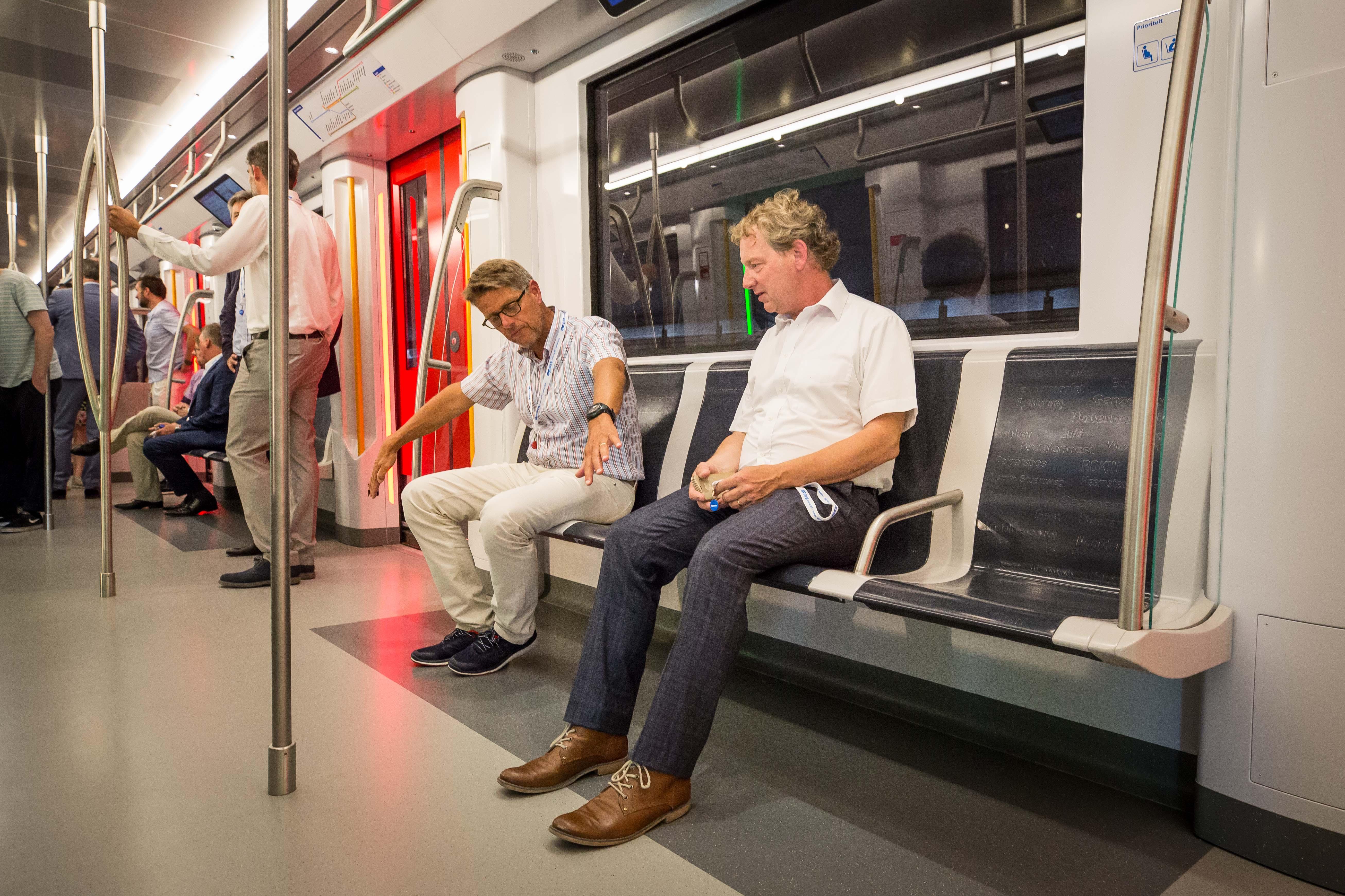 Mock-up nieuwe M7 metro interieur