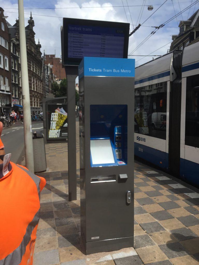 Nieuwe kaartautomaat GVB