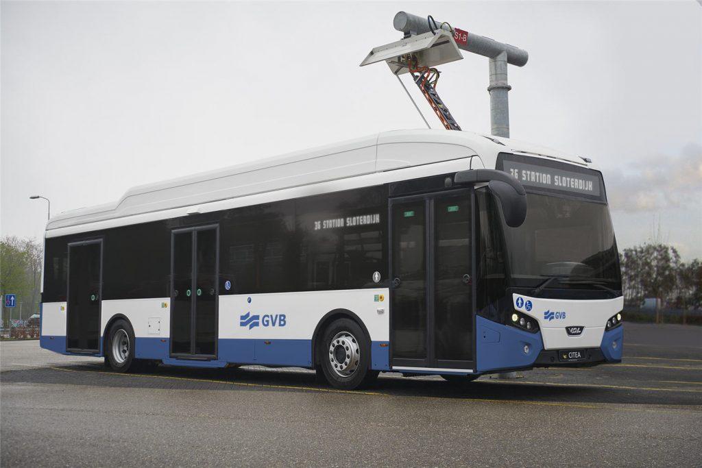 Impressie elektrische bus