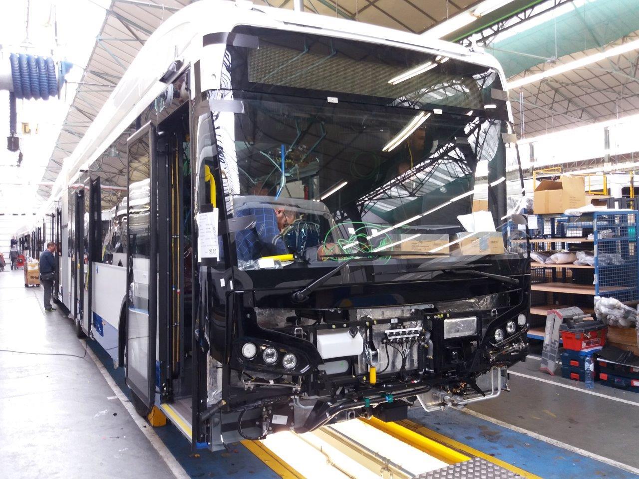 Bouw van elektrische bus