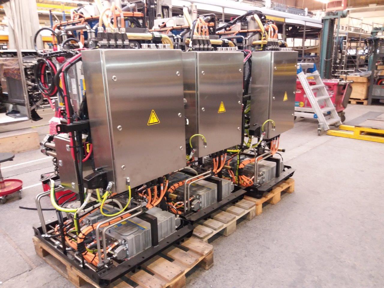 Randapparatuur die nog moet worden ingebouwd in de elektrische bus
