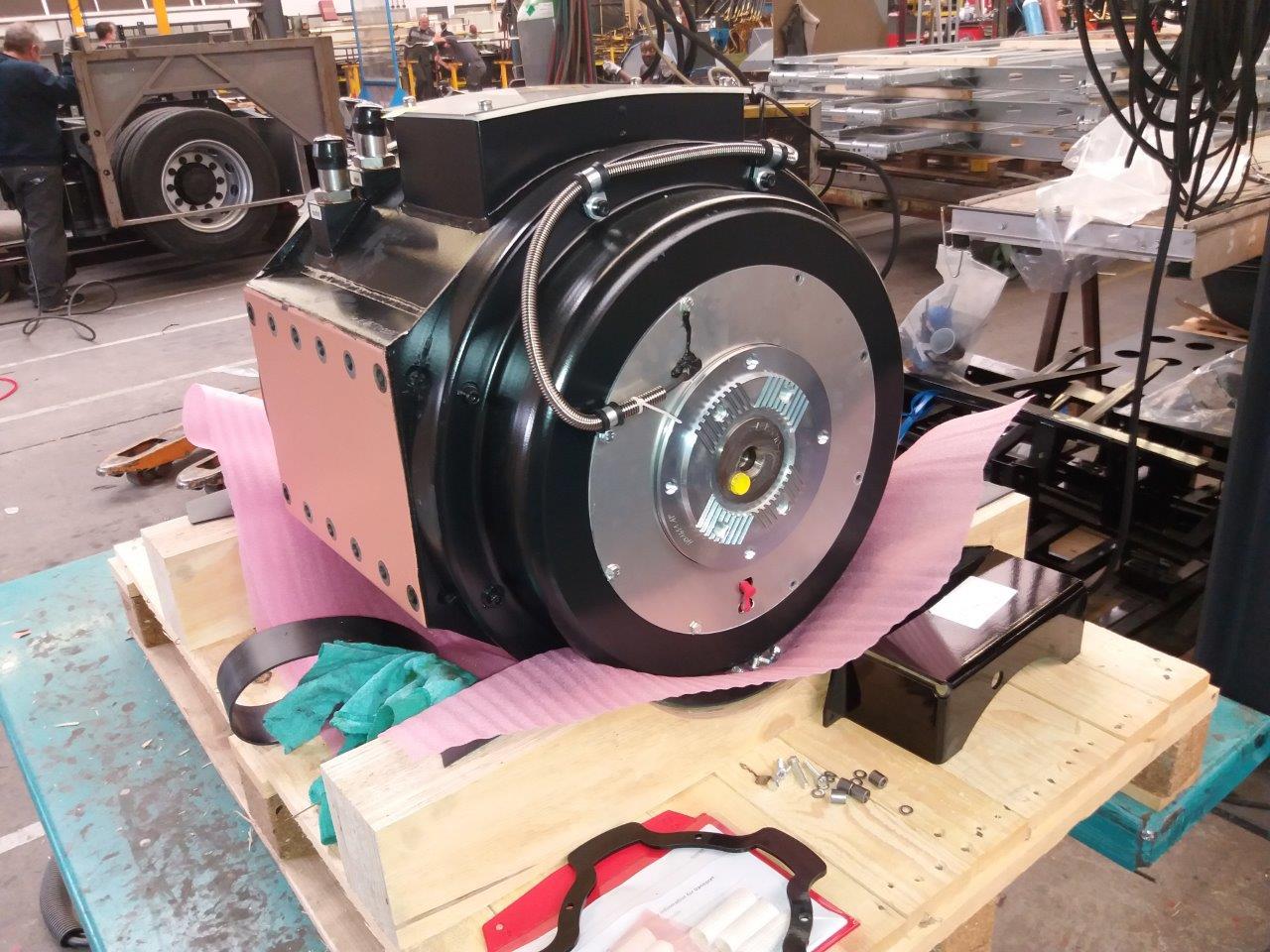 Het hart van de nieuwe bus: de elektrische motor van Siemens.