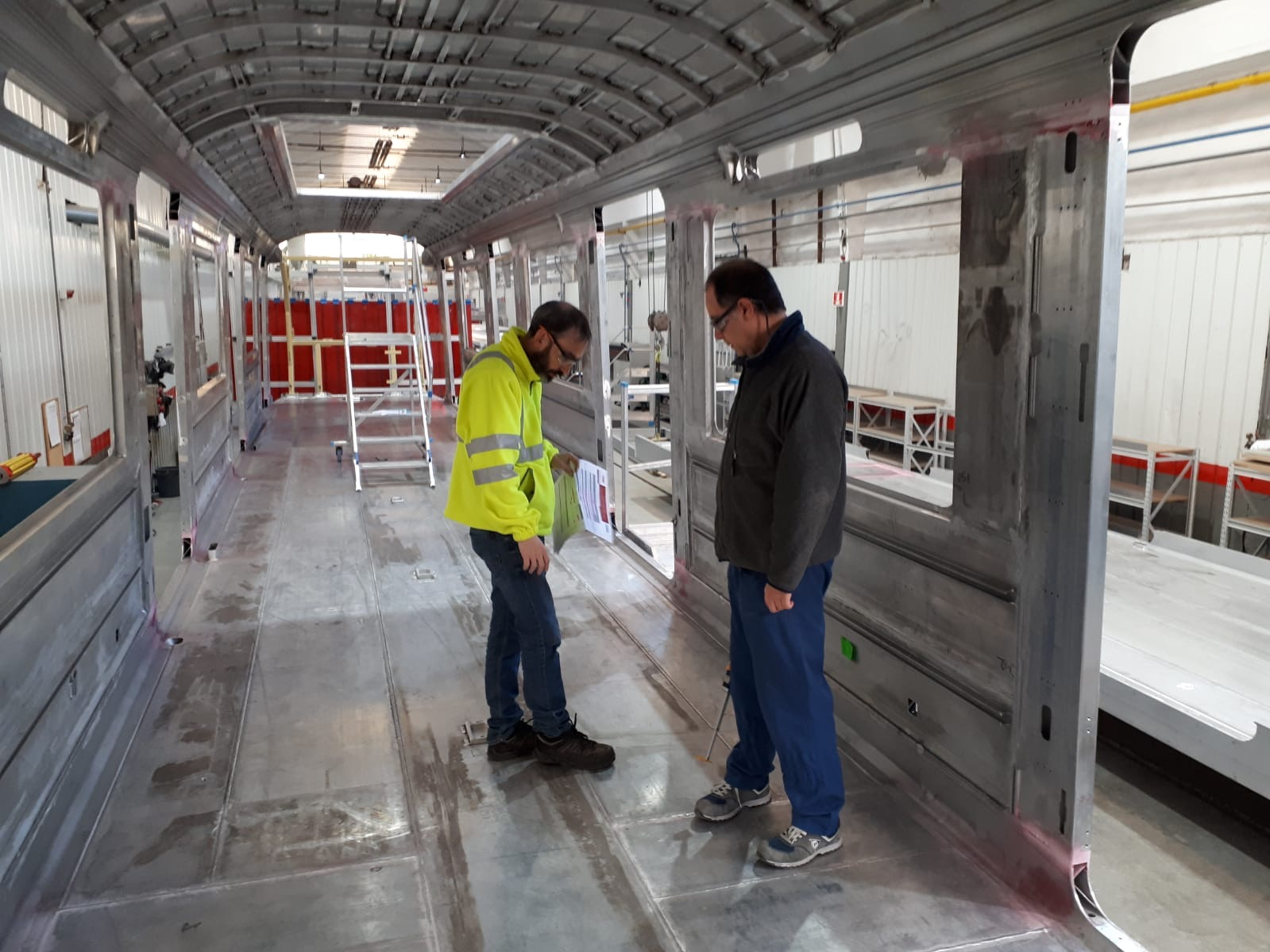 Vloer casco nieuwe M7 metro