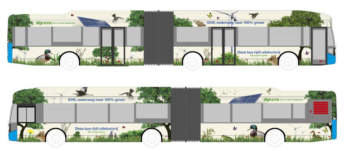 ontwerpvoorstellen van de elektrische bus