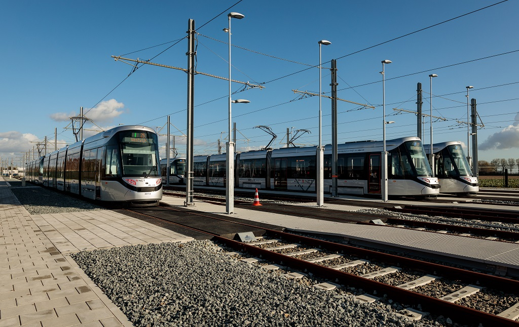 15G trams gekoppeld opstelterrein Legmeerpolder