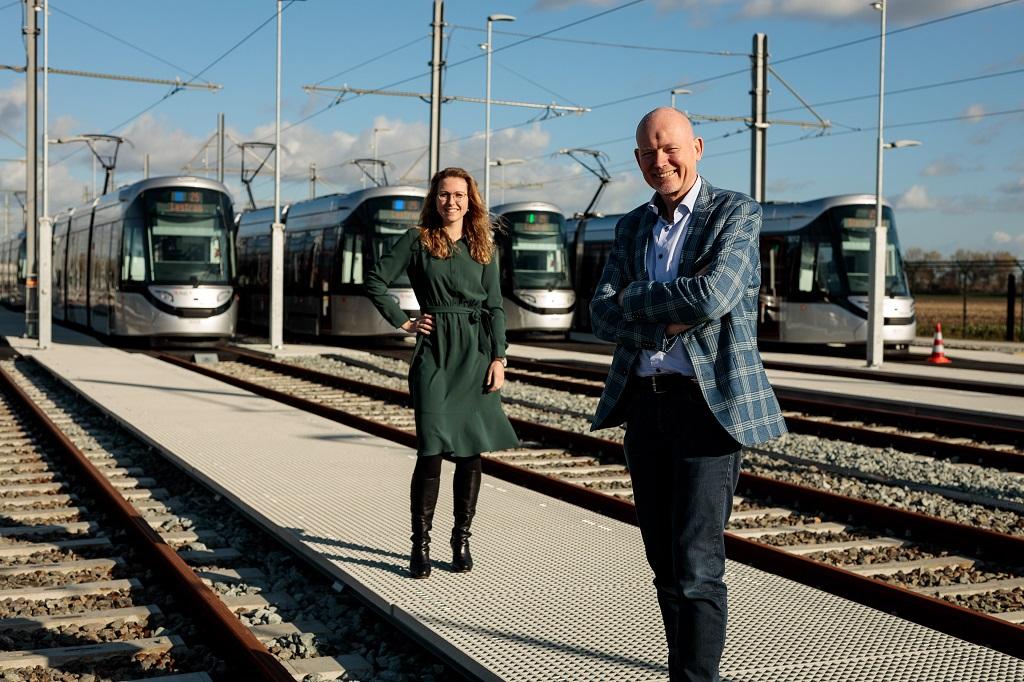 Marco Cowan en Anne Monné GVB 15G tram Amstelveenlijn