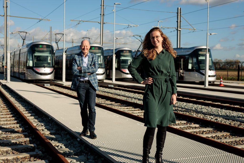 Anne Monné en Marco Cowan 15G tram Amstelveenlijn