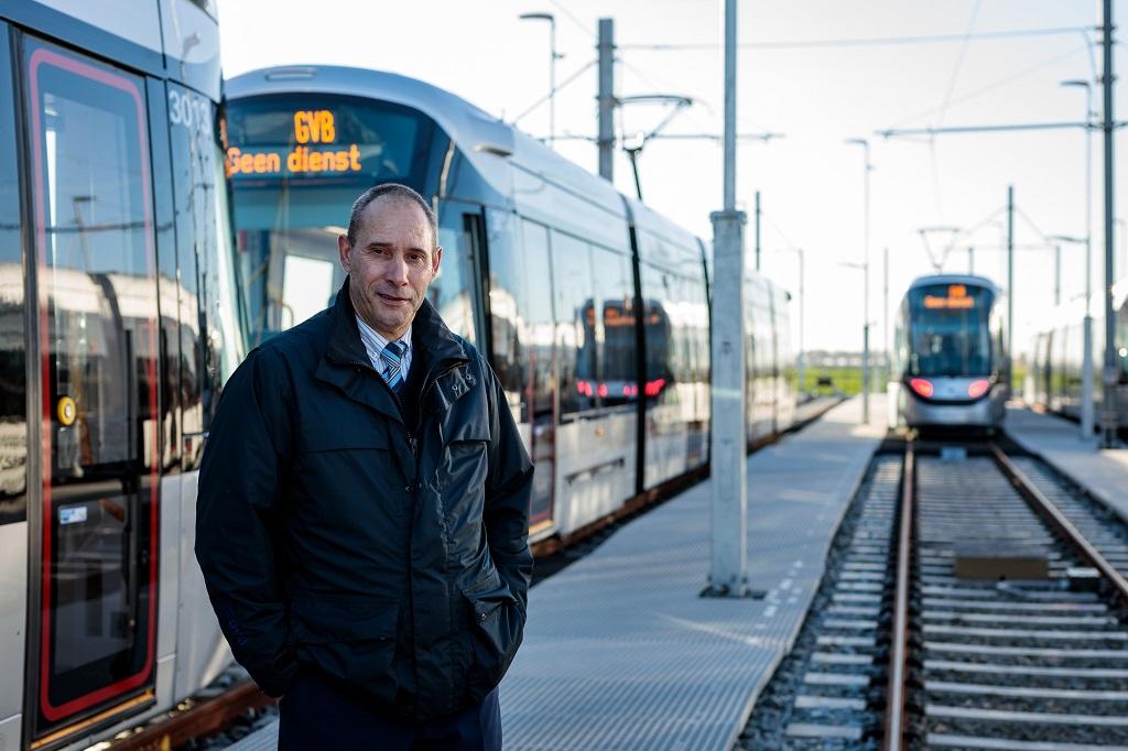 Trambestuurder Louis Henning lijn 25 Amstelveenlijn