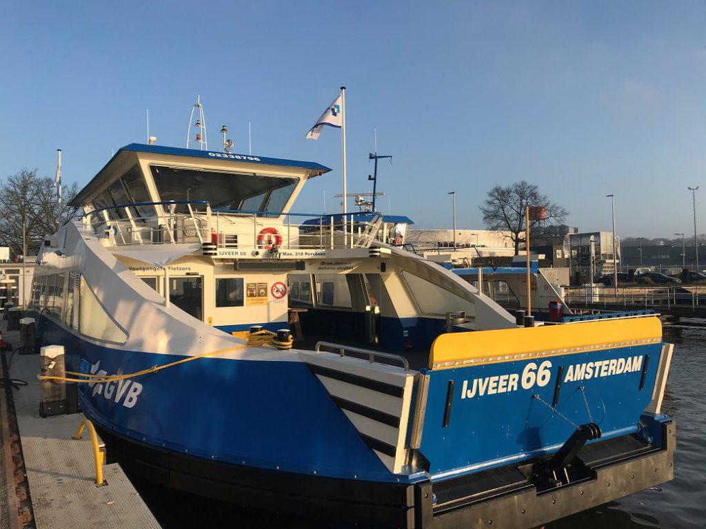 Nieuwe IJveer 66 in GVB ponthaven